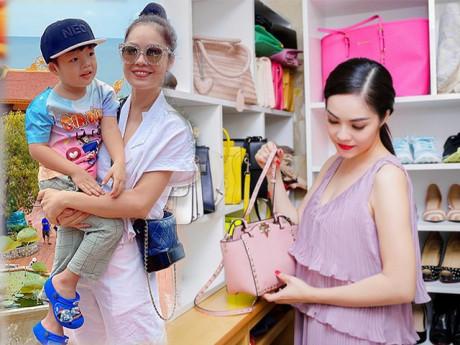 Mặc đồ giản dị khi đi chùa Dương Cẩm Lynh vẫn khoe được túi hiệu trăm triệu