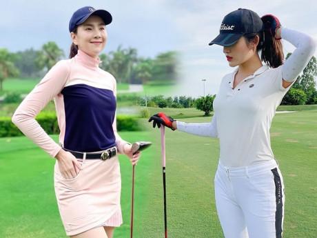 Thời trang sân golf của các mỹ nhân V-biz: cùng 1 công thức nhưng mỗi người mỗi vẻ
