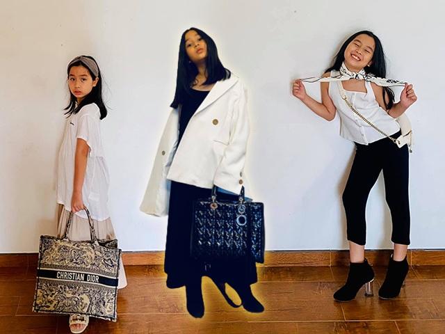 Con gái Lưu Hương Giang đòi mặc đồ hiệu của mẹ, hoá ra từ bé đã xách túi đắt tiền