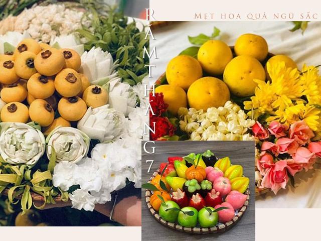 Mẹt hoa quả ngũ sắc sốt rằm tháng 7: Người bán tung hàng kiểu mới, có mẹt cả triệu đồng