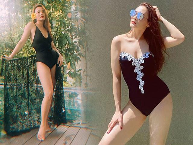 Chẳng hay Bảo Thanh có tăng cân không, nhưng sao diện bikini dáng tròn, đùi mũm mĩm thế kia!
