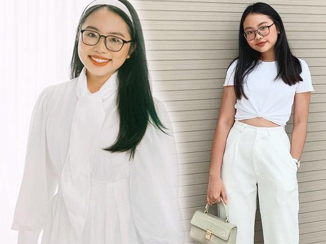 Phương Mỹ Chi xứng danh thiên thần áo trắng: diện trăm kiểu áo đơn sắc nhưng không hề nhạt nhòa