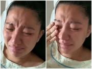 Con vừa ra đời 1 ngày, vợ Lê Dương Bảo Lâm da còn xanh tái ôm mặt khóc nức nở