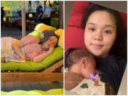 """Hình ảnh đầu tiên của vợ Duy Mạnh sau sinh, """"công chúa béo"""" hốc hác, kém sắc"""