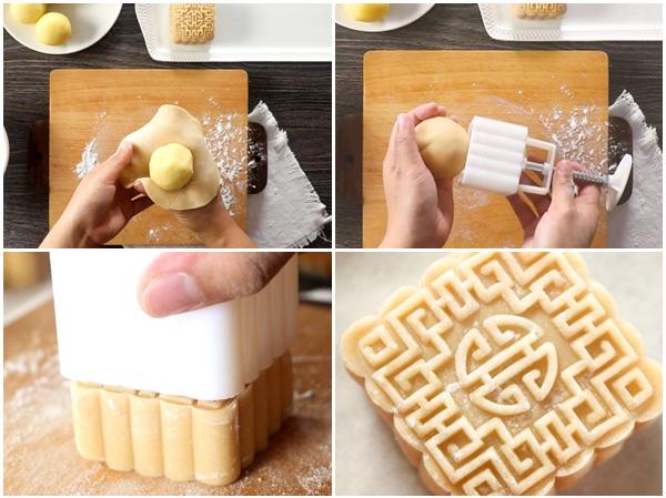 Cách làm bánh trung thu trứng muối và trứng muối tan chảy cực đơn giản - 18