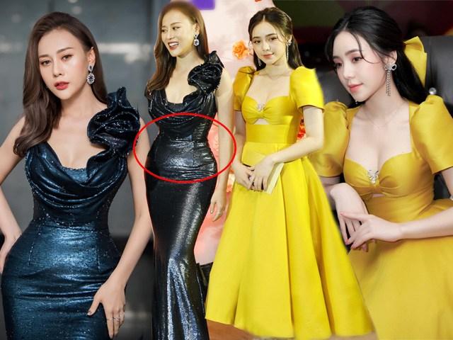 Quỳnh Kool diện đầm vàng chói loá nhưng chưa chiếm sóng bằng vòng eo bé tí của Phương Oanh