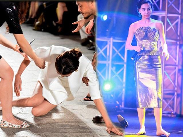Những lần sao Việt bấp bênh vì sự cố rớt giày, có trường hợp ngã nhoài trên sân khấu 