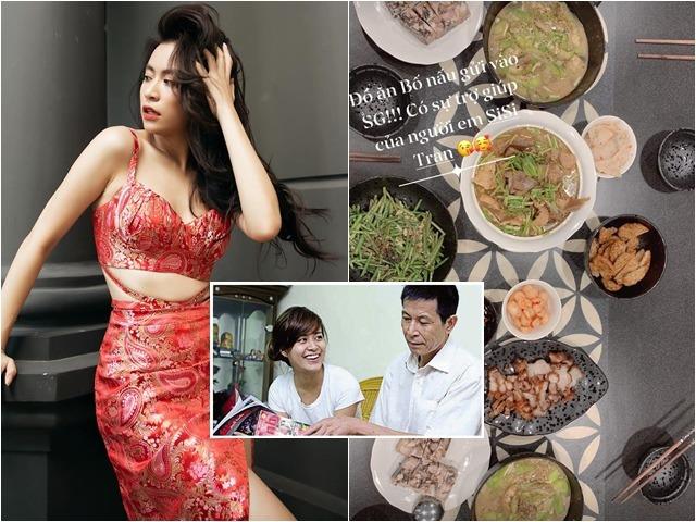 Chiều con gái như bố Hoàng Thuỳ Linh, nấu cho cả mâm cỗ gửi vào Sài Gòn