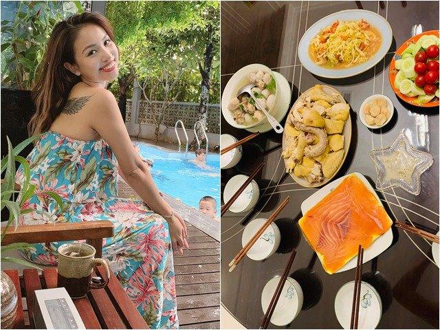 Vân Hugo thả thính ngọt khi nấu ăn cho chồng mới cưới, dàn sao Việt bình luận hài hước