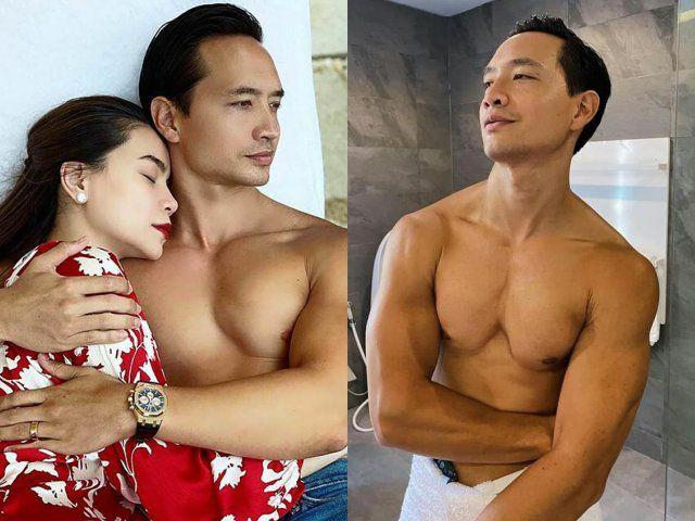 Kim Lý đăng ảnh cởi trần bị nhận xét ngực xệ, Hồ Ngọc Hà bình thản vào giải thích