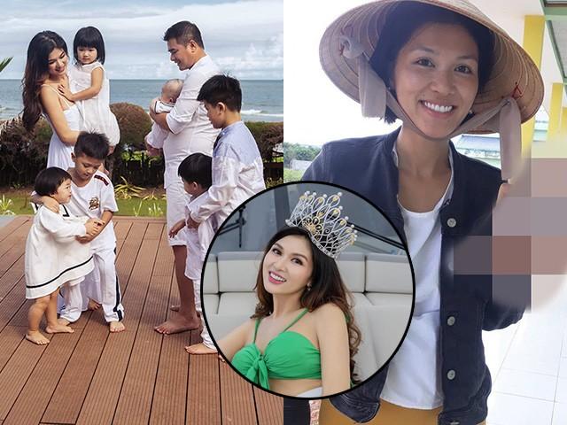 Đẻ liên tiếp 6 lần, Hoa hậu được tặng nhà 100 tỷ không nhận ra với ảnh sạm da