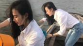 Thần thái đậm chất minh tinh, Angela Phương Trinh giản dị với quần jeans, áo sơ mi vẫn nổi bật
