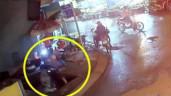 Thanh niên cùng xe máy rơi xuống hố sâu hơn 3m ở Sài Gòn