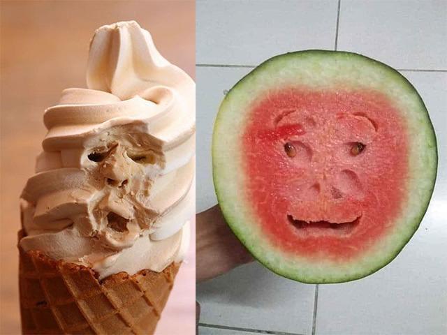 Đang ăn bỗng có cảm giác ai đó nhìn mình, thì ra đồ ăn cũng có biểu cảm như người