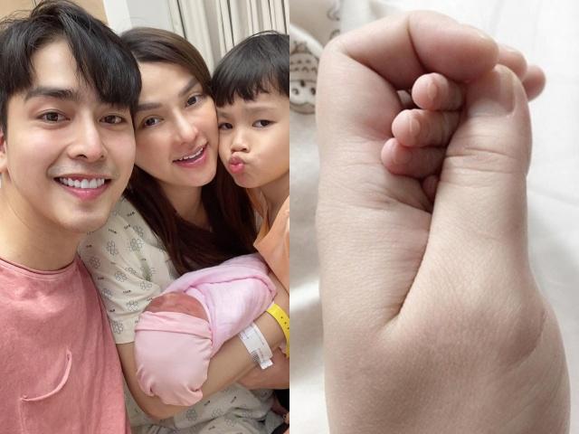 Sinh con với trai đẹp kém tuổi, Thu Thủy phản ứng khác hẳn lần đầu với người chồng đại gia