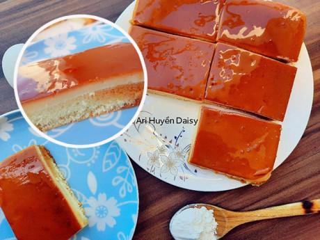 Học 9X làm bánh bông lan caramen thơm nức, không tanh ngọt mát lại mềm tan trong miệng