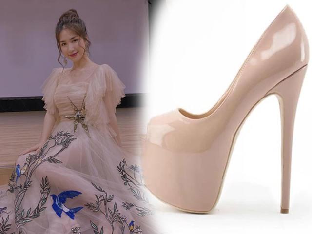 Nỗi khổ của nấm lùn: Hòa Minzy mang giày gần 30cm mới chinh phục được đầm dạ hội thướt tha