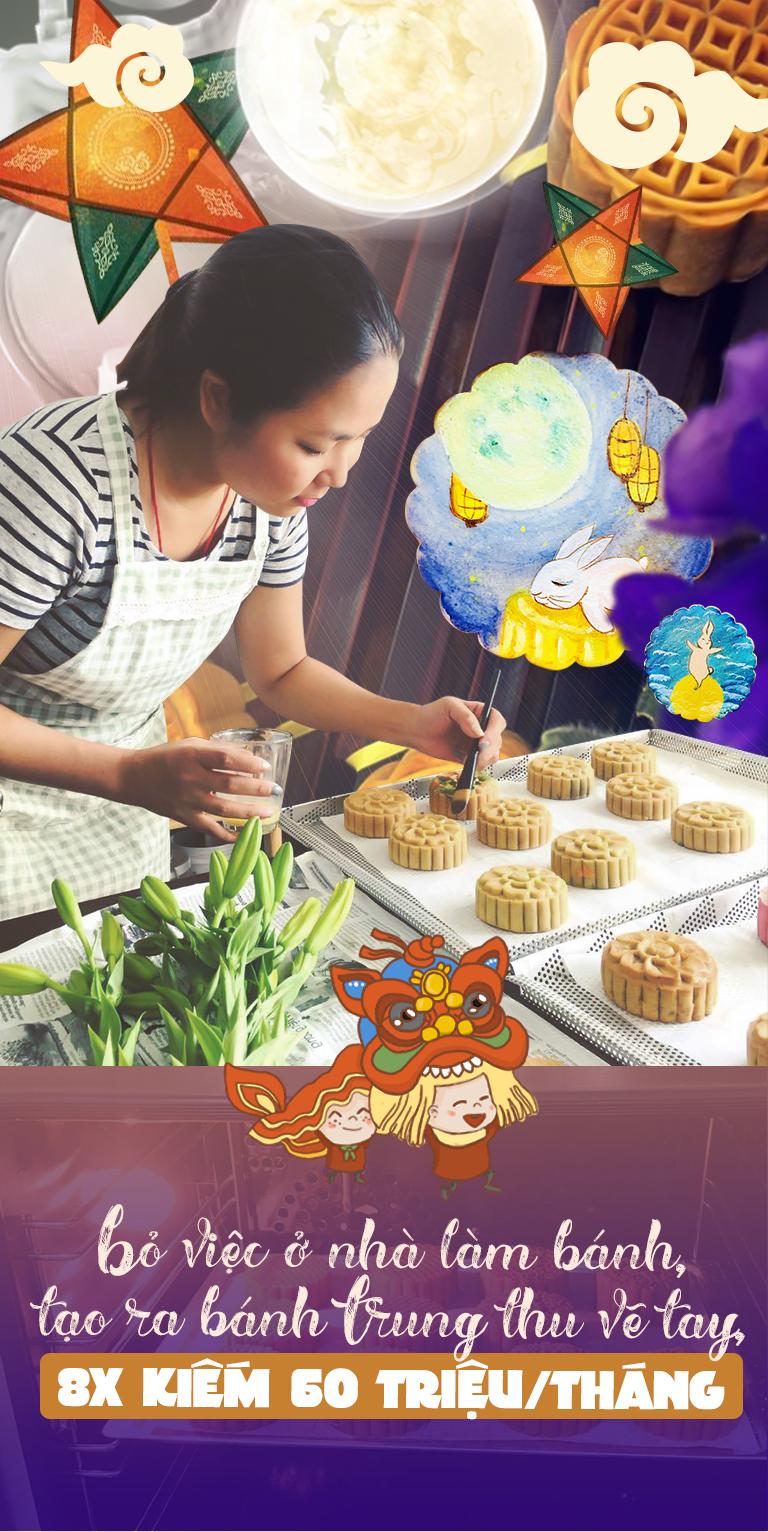 Bỏ việc ở nhà làm bánh, tạo ra bánh Trung thu vẽ tay, 8X Sài Gòn kiếm 60 triệu/tháng - 2