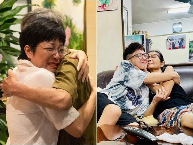 Thảo Vân thể hiện tình cảm với mẹ chồng cũ qua khoảnh khắc cu Tít ôm hôn bà nội