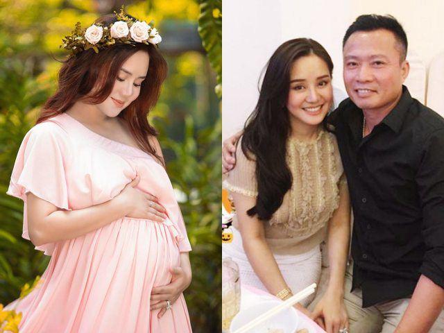 Bầu to sắp đẻ, Vy Oanh vẫn phải lên tiếng thanh minh cho chồng đại gia trên mạng xã hội