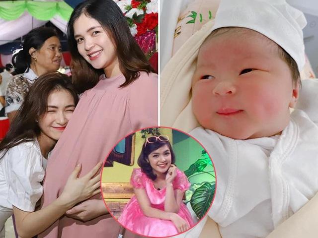 Chị gái là MC nổi tiếng của Hòa Minzy sinh con, bé ra đời có má lúm yêu hết nấc