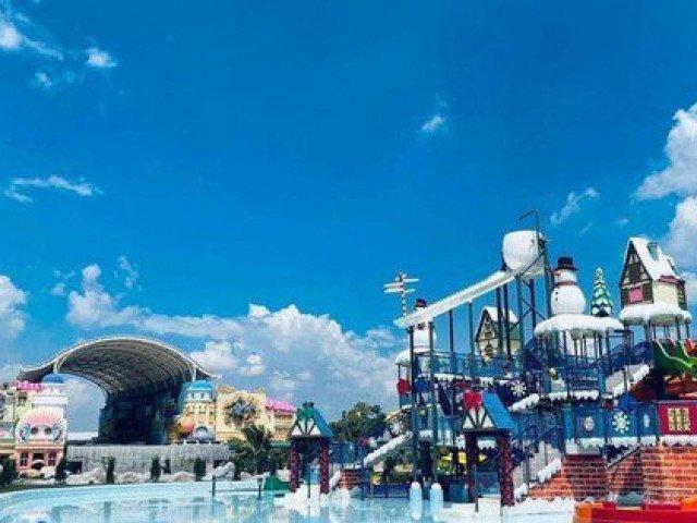 Công viên nước khổng lồ có visual đỉnh cao mới xuất hiện ở Đồng Nai khiến teen háo hức