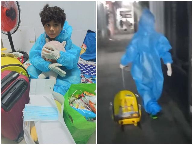 Nữ DV nổi tiếng Sài Gònnghẹn ngào nhìn cảnh con 10 tuổi xách vali đi cách ly vì Covid-19