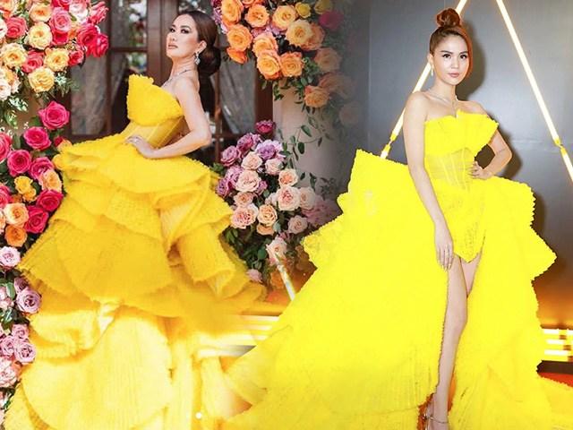 Mẹ Việt lấy tỷ phú Mỹ đụng độchiếc váy làm Ngọc Trinhhớ hênh: Đẳng cấp Nữ hoàng là đây!