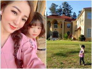 Khóa cửa nhà 10 tỷ ở Việt Nam, Thúy Nga cùng con gái sống sang chảnh ở biệt thự Mỹ