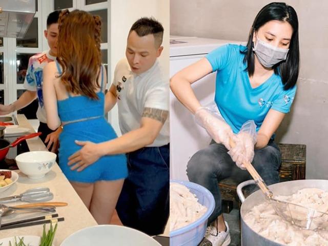 Khi sao vào bếp mùa giãn cách, người đóng bộ kín bưng, người chỉ chờ để hở