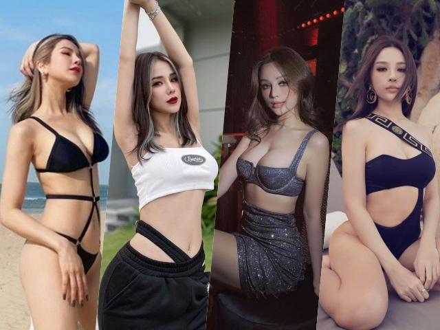 So style 2 hotgirl lấy chồng đại gia, Diệp Lâm Anh đã gợi cảm, Huyền Baby còn bức tử hơn