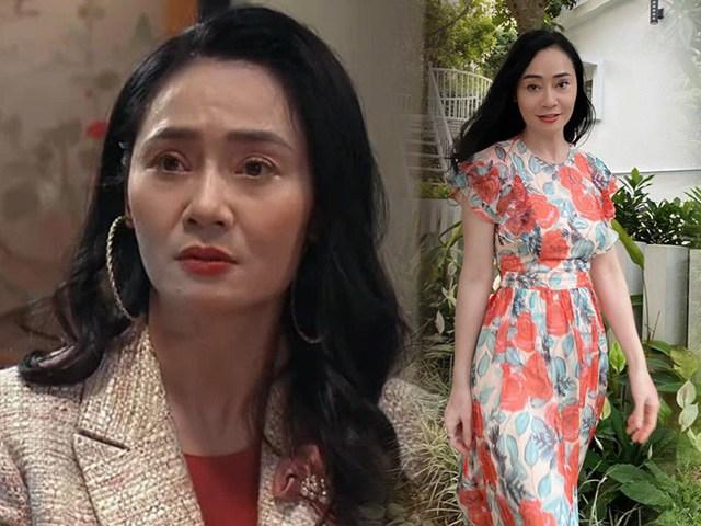 Trong Hương vị tình thân loè loẹt đáng ghét, bà Xuân ngoài đời U50 ăn diện sành như gái trẻ