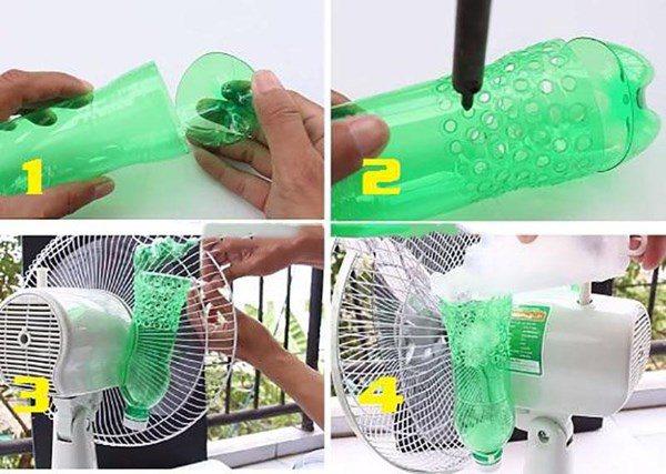 Tận dụng chai nhựa gắn sau quạt, trong nhà giảm 10 độ mà không cần điều hòa - 4