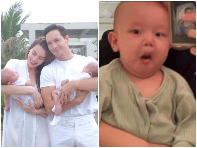 Nghe Kim Lý nói tiếng Việt hiểu vì sao con trai Leon 8 tháng tuổi đã nói giọng Quảng Bình