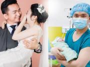 Mới đăng hình đám cưới giấu mặt vợ, nay MC   Chuyển động 24h   khoe đón con gái đầu lòng