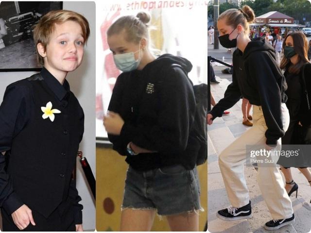 Cô con gái từng muốn chuyển giới của Angelina, 15 tuổi thay đổi hoàn toàn, nhìn đôi chân mới sốc