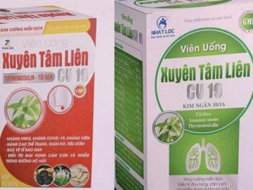Bộ Y tế cảnh báo khẩn cấp 2 sản phẩm phòng chống COVID-91 có tên Xuyên Tâm Liên CV19
