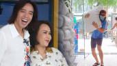 Chồng 50 tuổi của Việt Hương loạng choạng vì vác nặng khác hẳn hình ảnh lãng tử trên truyền hình