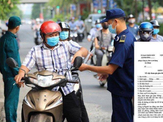 Những ai được cấp Giấy đi đường trong thời gian giãn cách xã hội ở Hà Nội