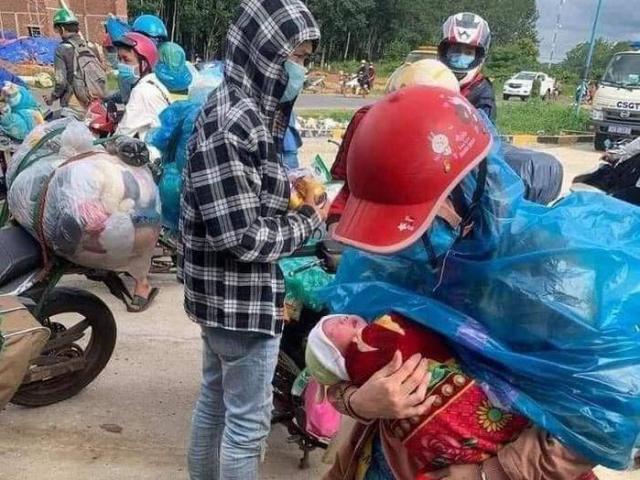 Tin tức 24h: Vợ chồng chở con 9 ngày tuổi bằng xe máy vượt 1.400km về Nghệ An lên tiếng