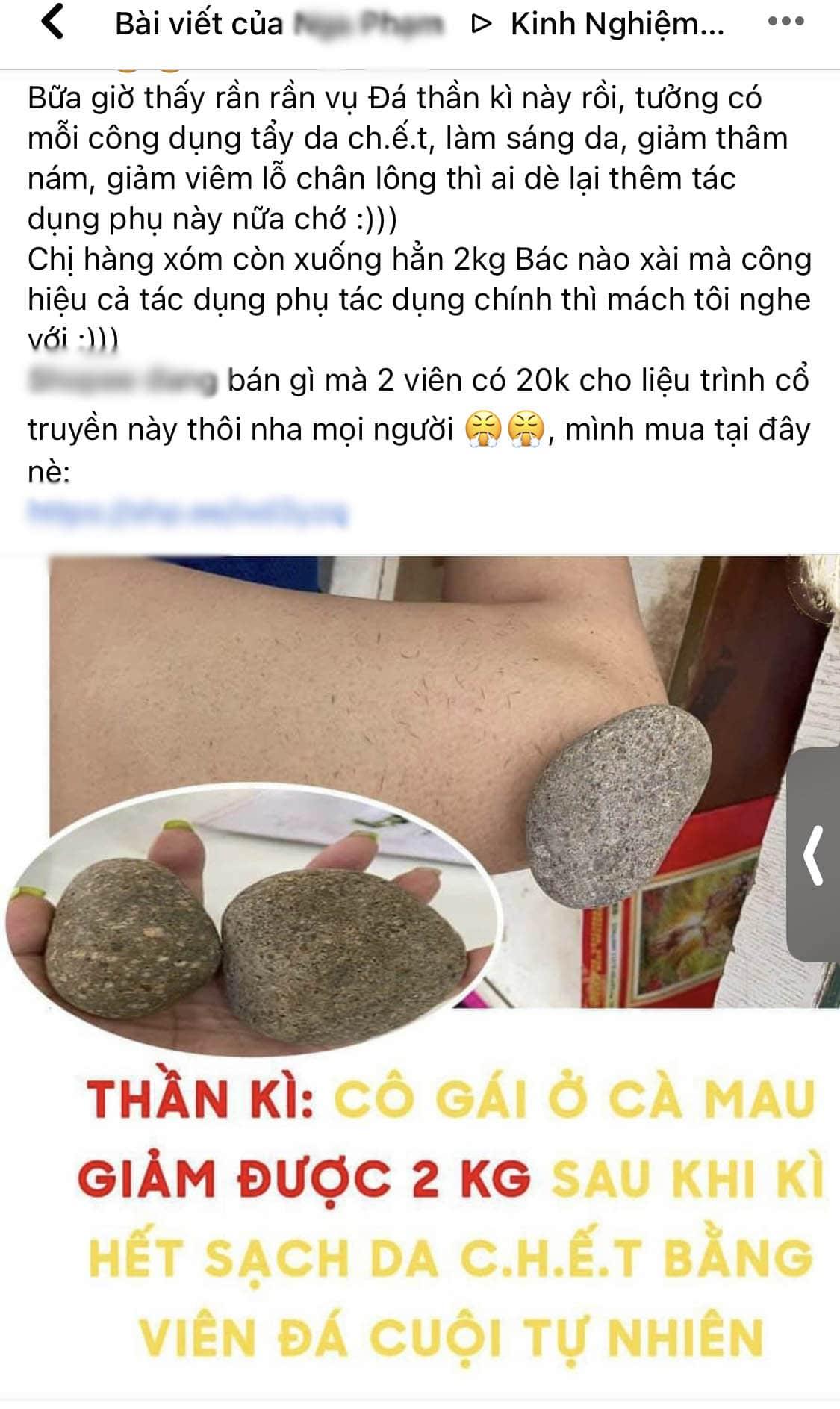 Rẻ-Đẹp-Dễ: Chị em mách nhau mua hòn đá tẩy da chết, giá 10k tắm xong giảm 2kg