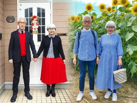 Cặp vợ chồng Nhật kết hôn hơn 40 năm vẫn mặc đồ đôi siêu đẹp mỗi ngày