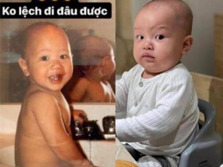Hà Hồtung ảnh Kim Lý lúc nhỏ, chứng tỏ Leon lớn sẽ thành nam thần như bố