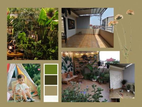 Ông bố Hà Nội cải tạo sân thượng 20m2 thành khu vườn cho con gái, chỉ tốn 2 triệu đồng
