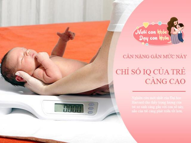 Đại học Harvard: Cân nặng trẻ sơ sinh càng gần với con số này, bé càng thông minh
