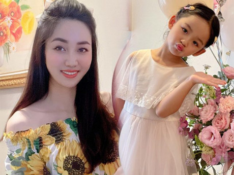 Con gái Á hậu Trà My giành spotlight của mẹ vì ăn mặc xinh như công chúa