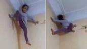 Cô bé trèo tường dễ dàng như người nhện gây sốc