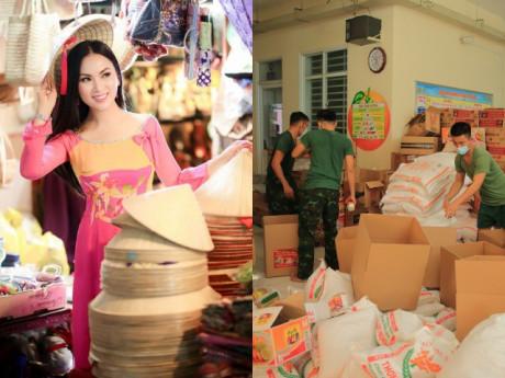 Ca sĩ tỷ phú Hà Phương được bố chồng đồng hành, tiếp tục tặng hàng trăm tấn nhu yếu phẩm
