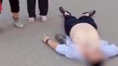 Thanh niên nằm lăn ra đường đòi tiền mẹ và nguyên nhân phía sau