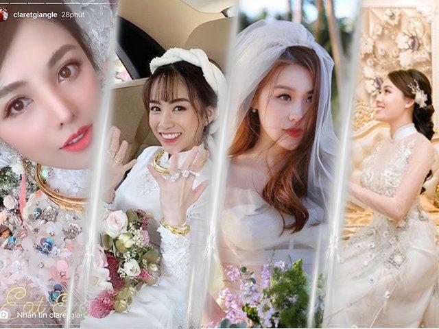 Đám cưới trong mơ của hội hotgirl đình đám: Tiểu thư nhà đại gia BĐS và nữ giảng viên sexy